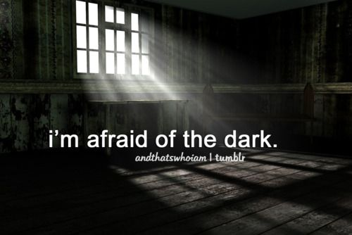 More like, I'm afraid of what my imagination invents in the dark.
