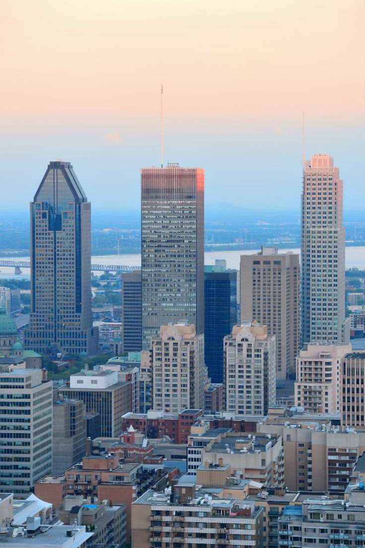 Montreal cityscape. Canada Montreal Barrhead travel