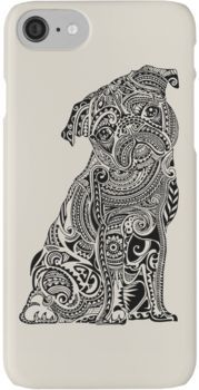 Polynesian Pug Iphone Case By Huebucket Pug Art Print Dog Coloring Page Pug Art