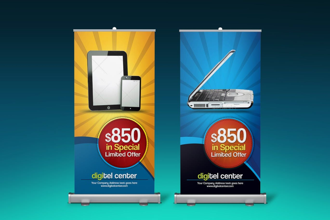 Product Offer Rollup Banner Signage Template Psd Roll Up Banner