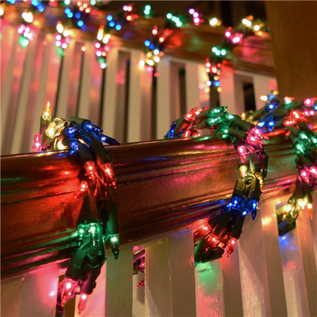 Diy Christmas String Lights : Party Lights / Holidays/ Decor/ DIY/ CHristmas / String Lights / 600 Multi-Color Cluster Garland ...