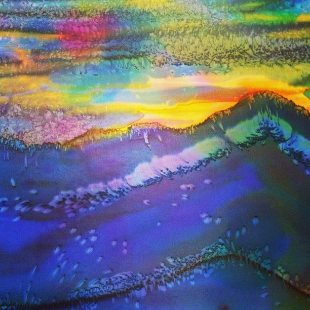 This is a painting on silk that will be sewn into a SAbel fall 2013 blouse.