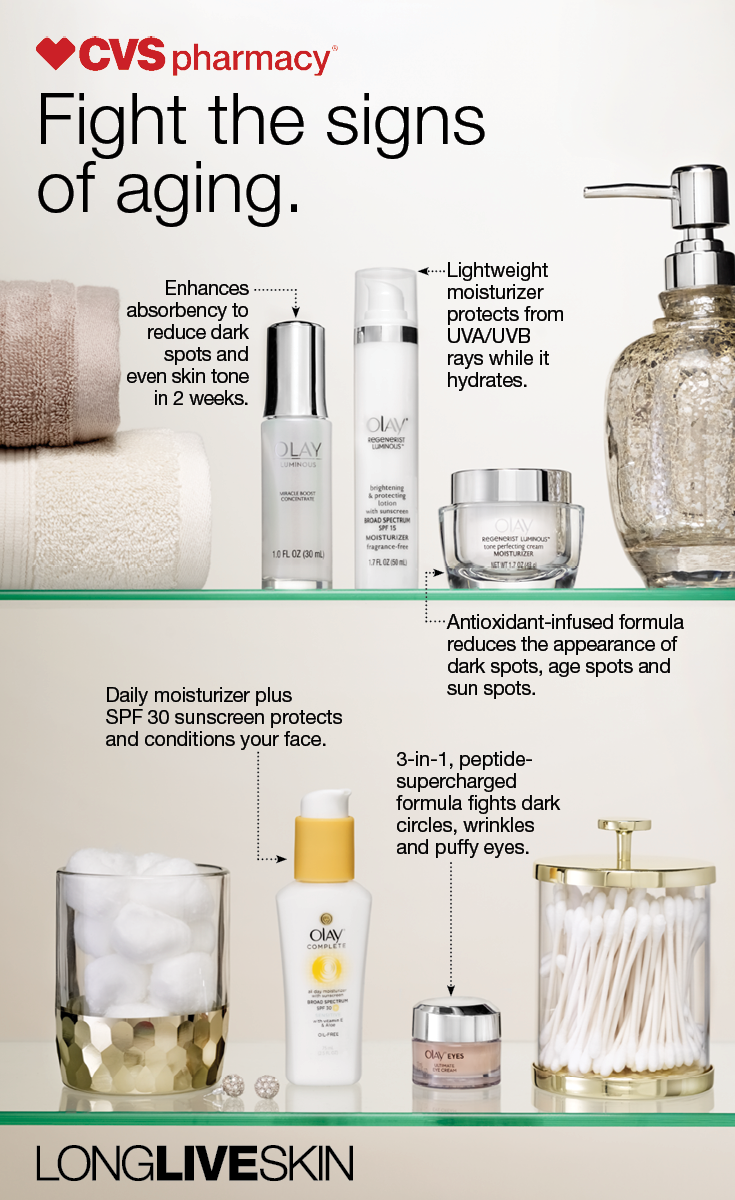 Reduce dark spots, fine lines and wrinkles with a regimen