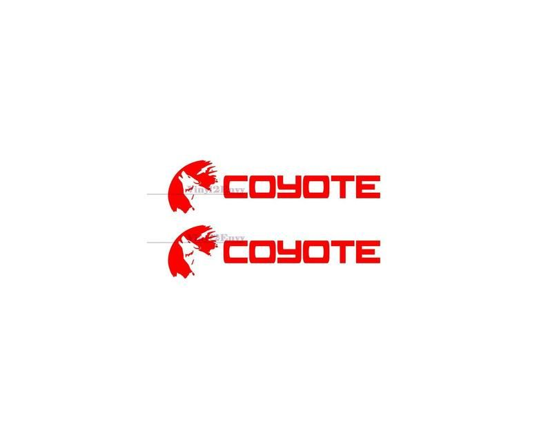 2 x coyote 50 ford mustang decal car decal vinyl car