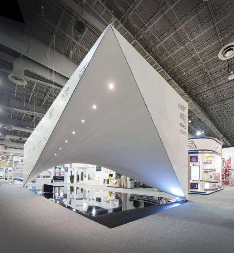 Expo Exhibition Stands Election : Usg stands expo cihac  archdaily