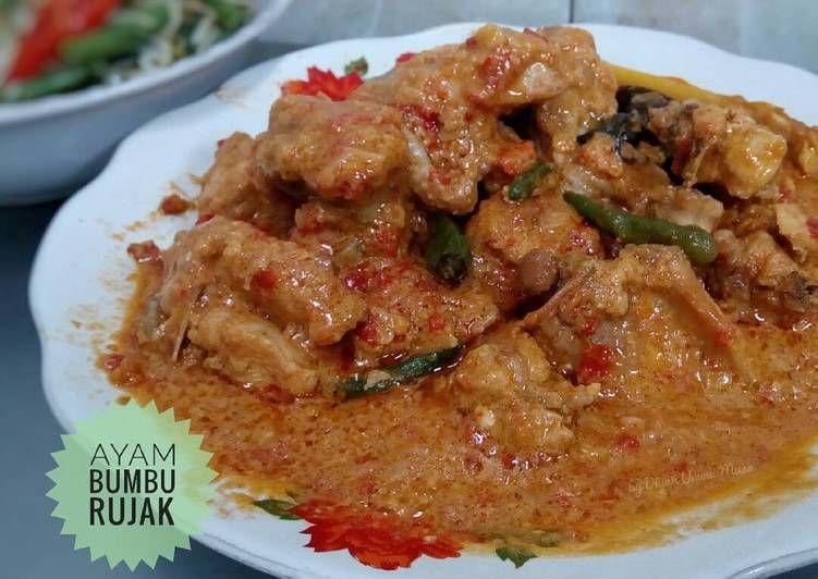 Resep Ayam Bumbu Rujak Pr Masakansantan Oleh Diyah Kuntari Resep Resep Ayam Resep Resep Makanan