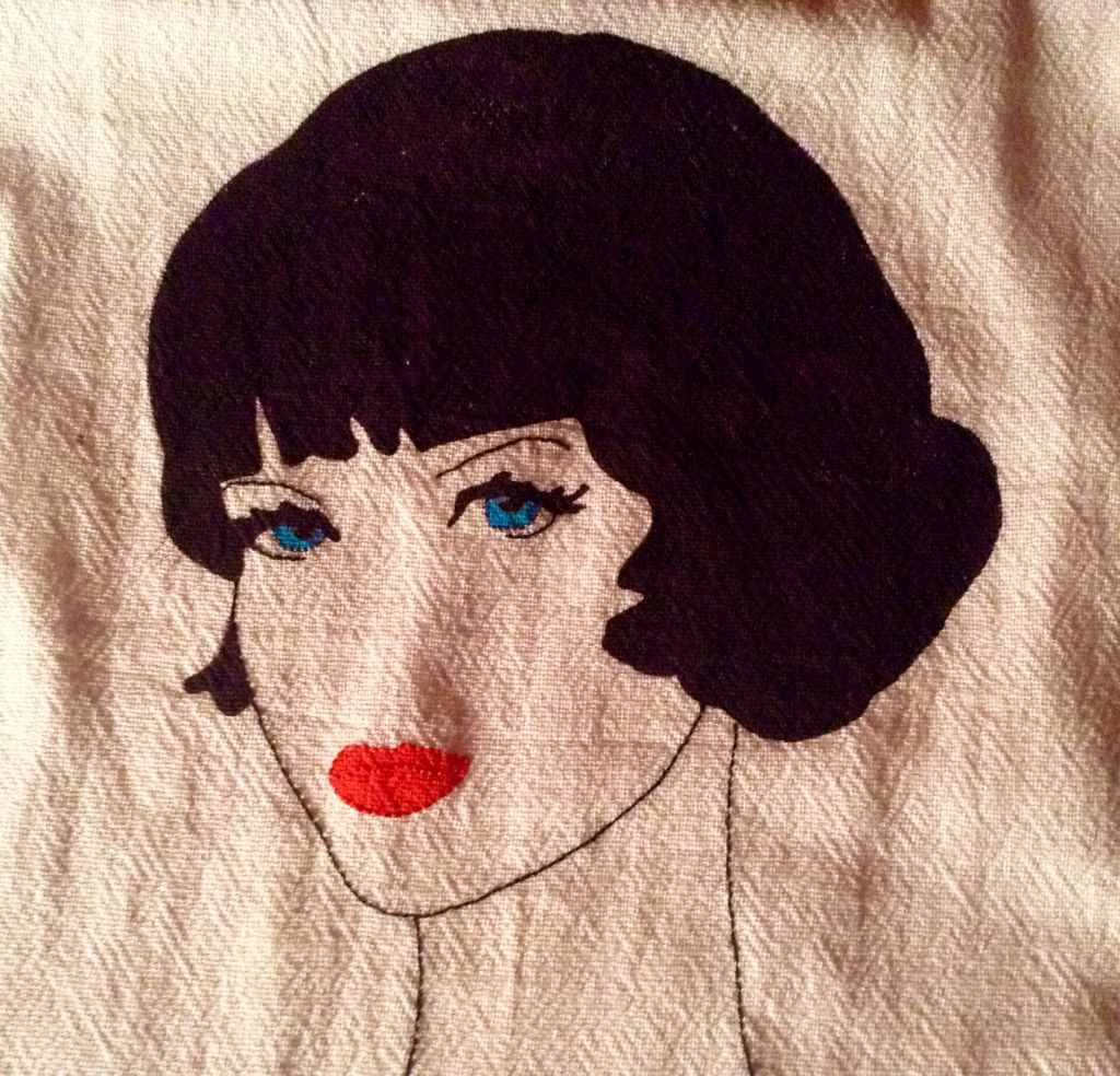 Painted and embroidery