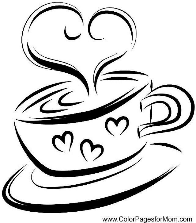 coffee coloring pages - photo#14