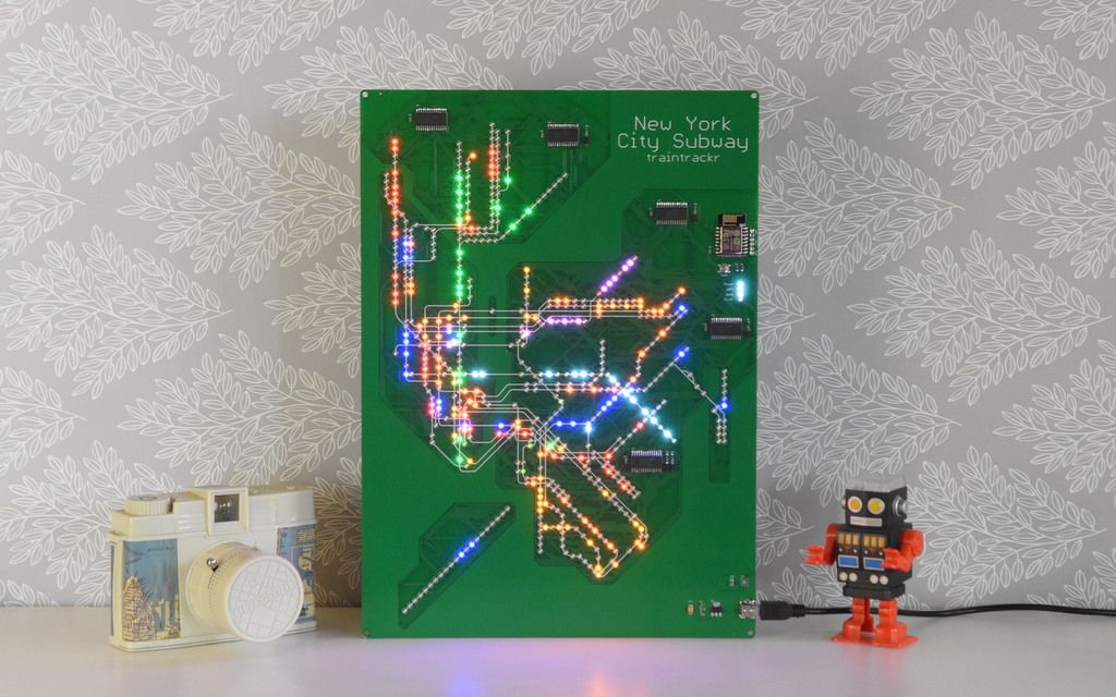 A Live New York City Subway Map Pcb Showing Live Train Arrivals As People Move Around The City Www Traintrackr Io Subway Map Subway New York City