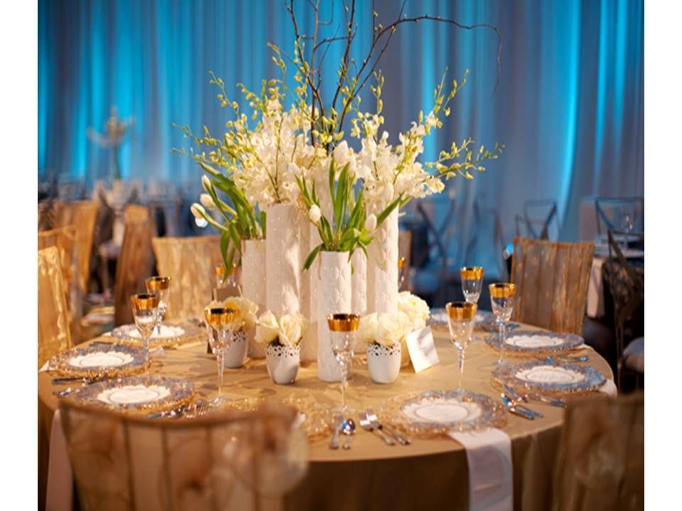 Silk Flower Centerpieces For Wedding Reception Wedding Reception