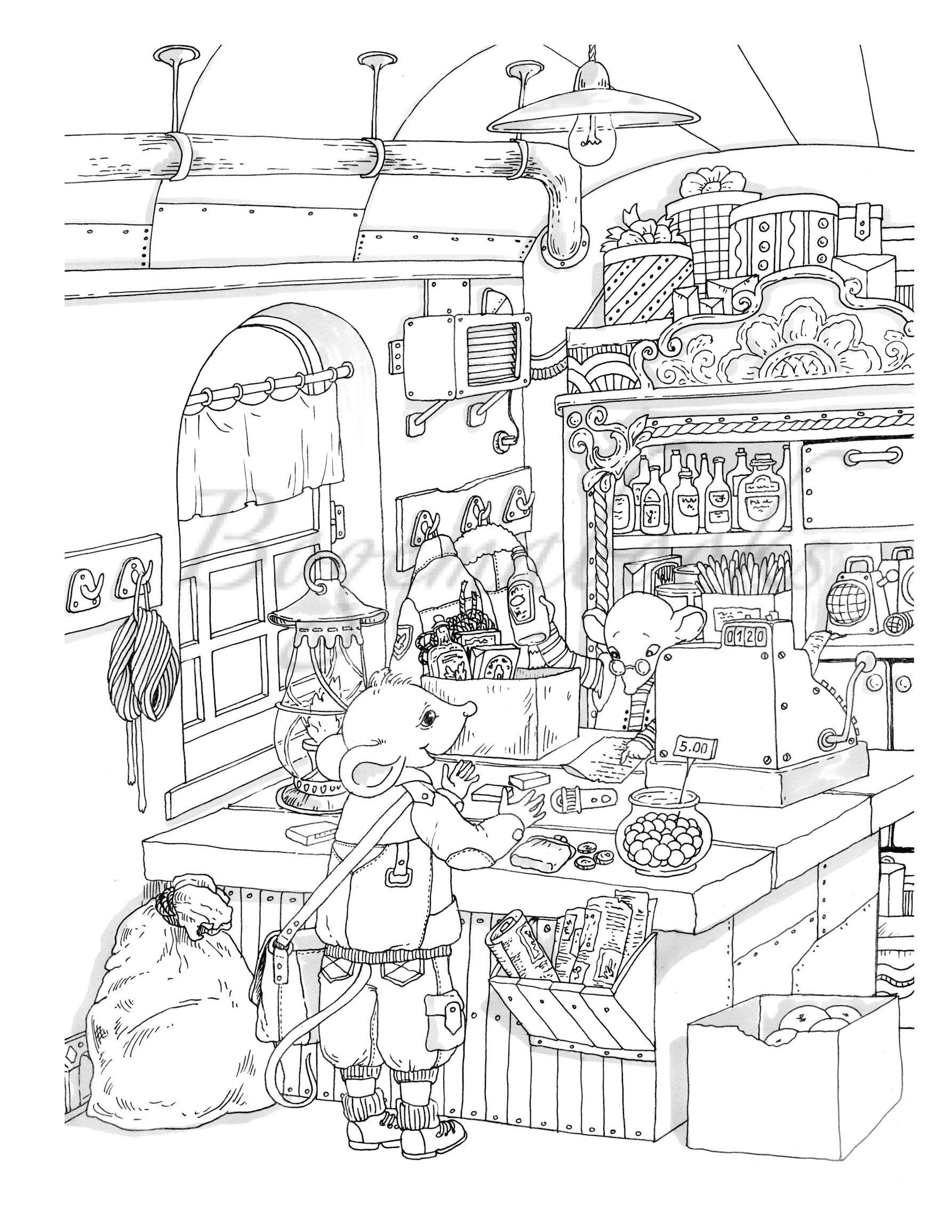 - Nice Little Town 8 (Adult Coloring Book, Coloring Pages PDF