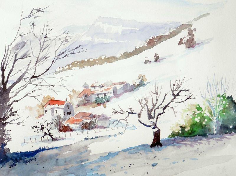 Enfin La Neige Je Croque Donc Je Suis Comment Peindre