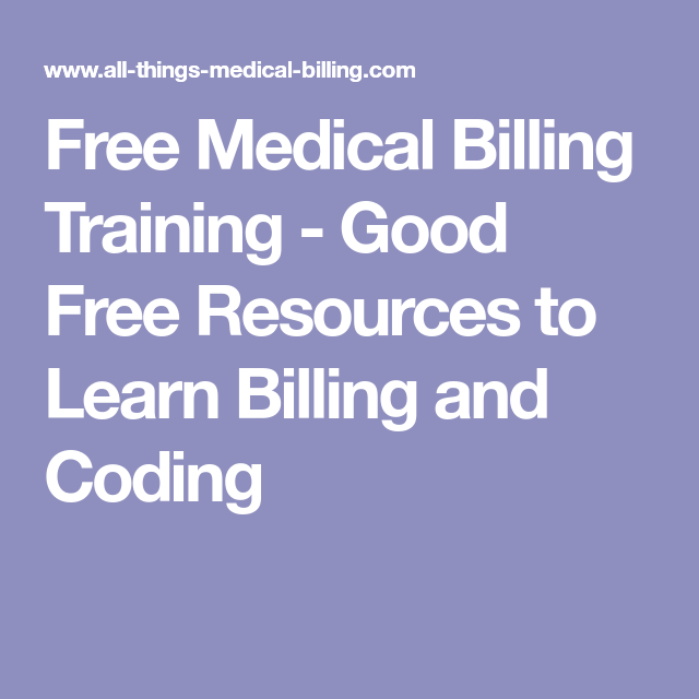 Free Medical Billing Training Good Free Resources To Learn Billing
