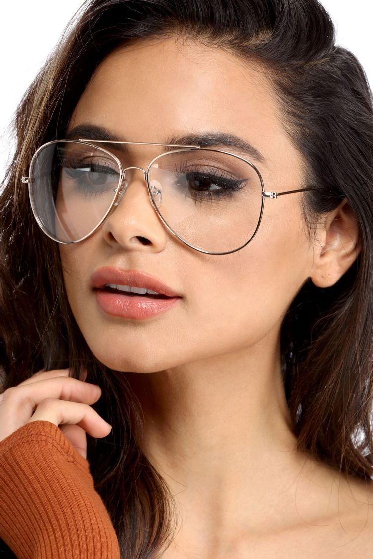9afeb771b63e Sunglasses. Final Sale- Gold Clear Metal Aviators Aviator Glasses