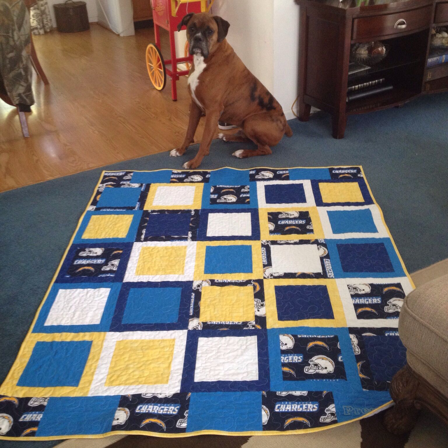 San Diego Chargers Blanket: San Diego Chargers Quilt