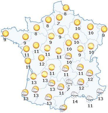météo carte de france Carte de France meteo (With images)   France map, France, French