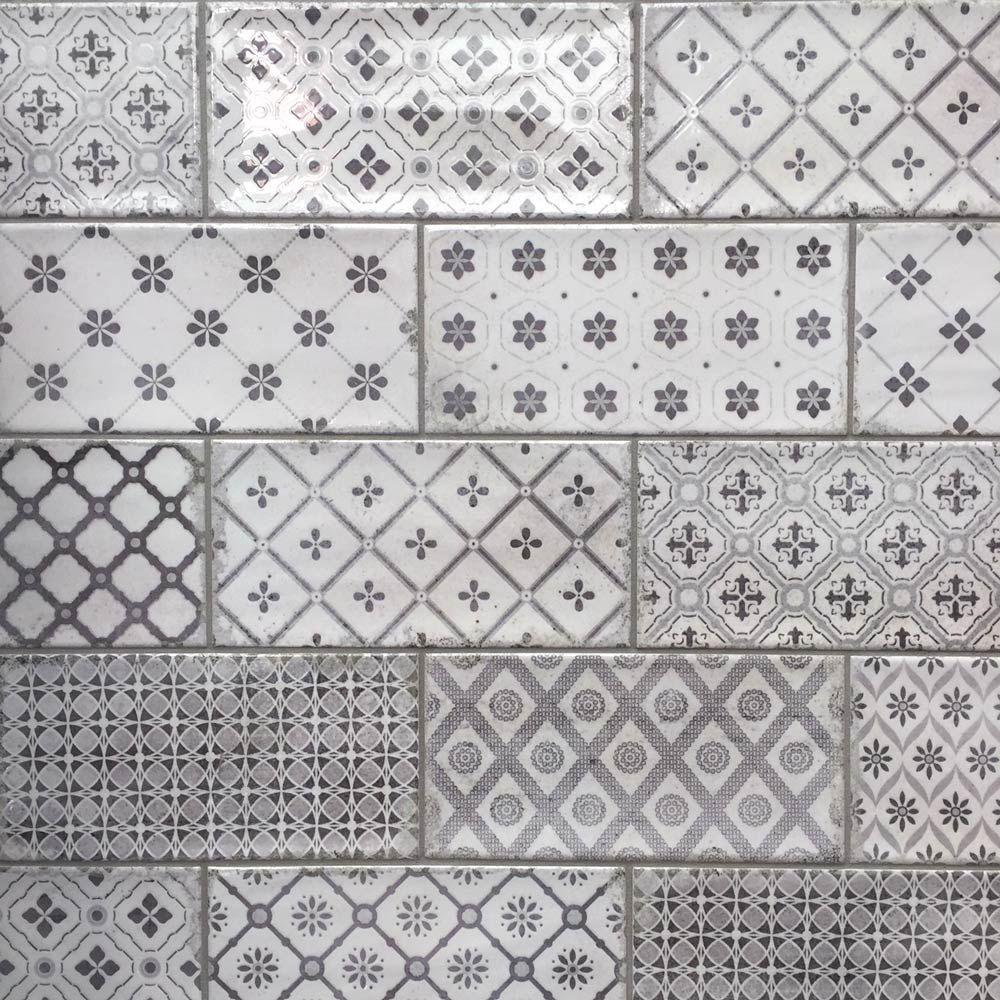 . 10x20cm Vita Nebbia Decor Brick Tile by Fabresa in 2019   Extension