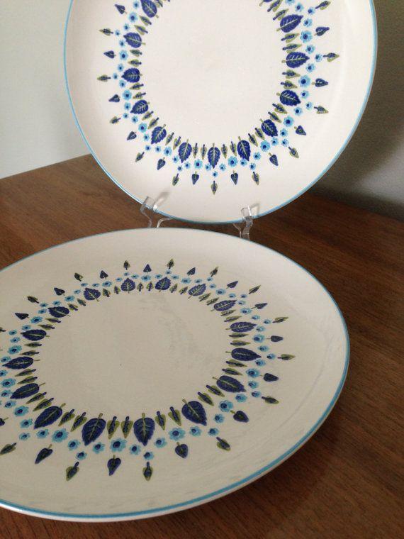 Swiss Chalet 10 Dinner Plates Set of 2 -- Atomic Dinnerware by Stetson Marcrest & Swiss Chalet 10