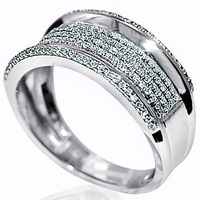 Amazing Mens Diamond Wedding Band Ring k White Gold ct mm Wide Pave Set Ring