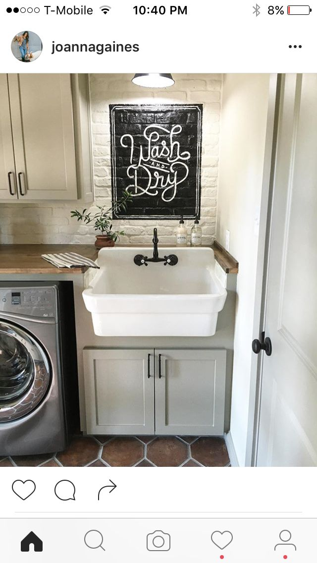 Layout Sink Size Style White Brick Cabinet Colors Laundry In