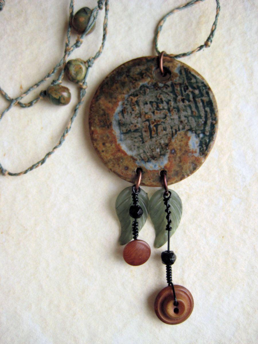 earthy ceramic pendant by Osa-Art-Farm on DeviantArt
