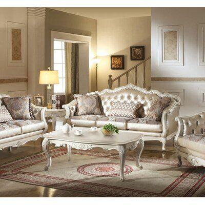 Best Astoria Grand Dillingham Sofa White Living Room Set 400 x 300