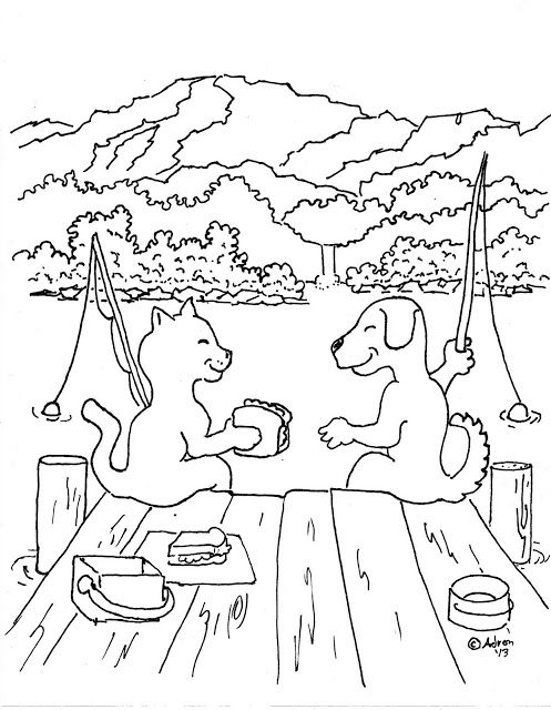 Coloring Pages For Kids By Mr Adron Dog And Cat Friends Print And Color Page It Has A Positiv Puppy Coloring Pages Cute Animals Puppies Cute Animal Drawings