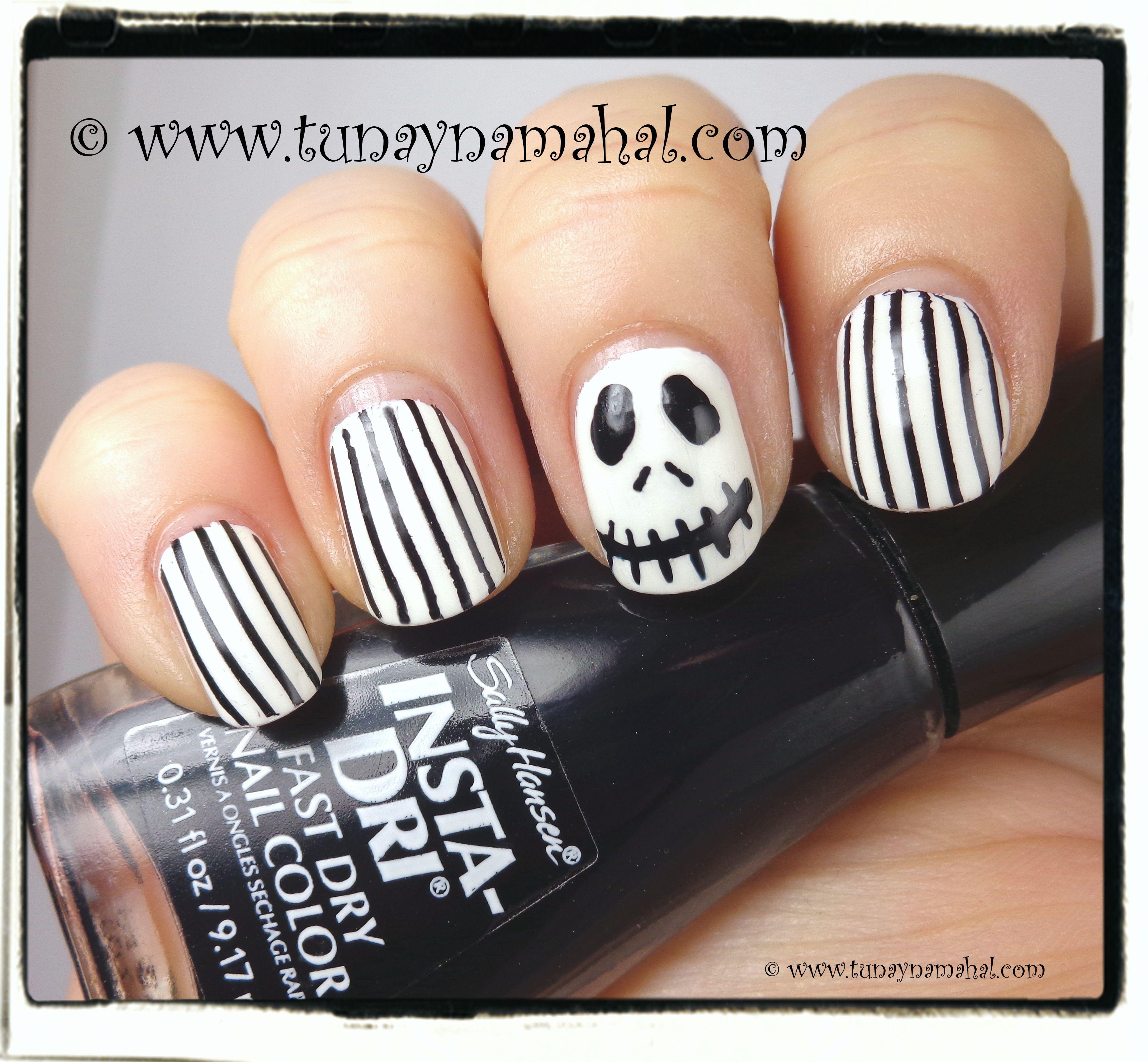 Funky Jack Skellington Nails Photo - Nail Art Ideas - morihati.com