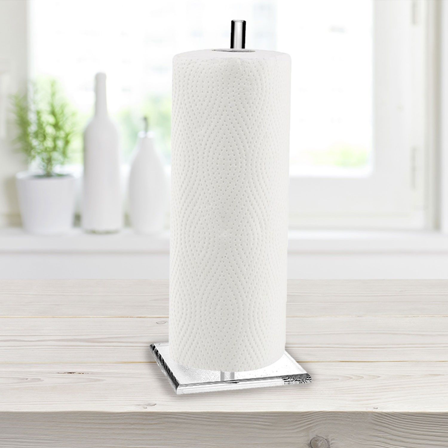 Clear Acrylic Paper Tower Holder For Countertop The Base Meaasures