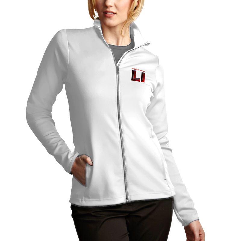 Antigua Women S Super Bowl Li Leader Full Zip Pullover Jacket White Jackets Outerwear Jackets Women