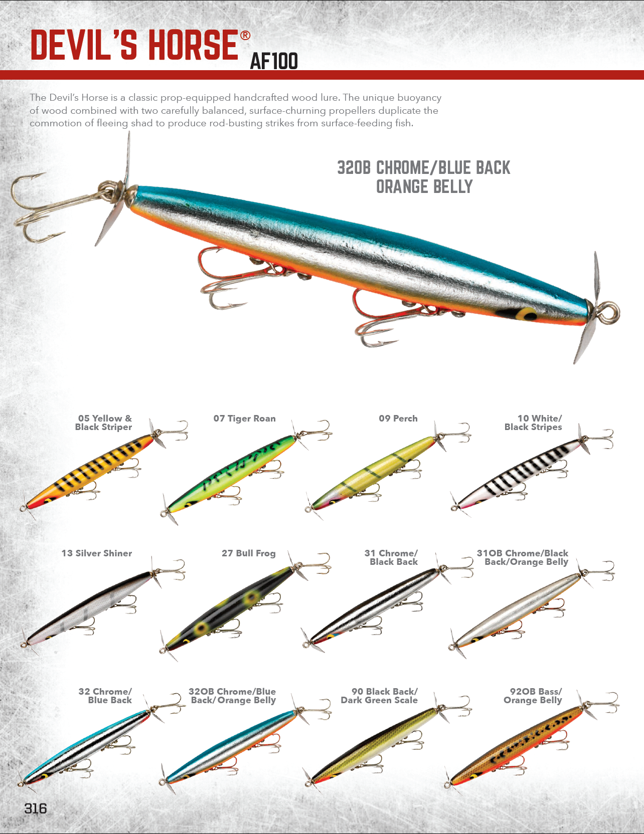 Smithwick devils horse af100 2017 color chart fishing lure color smithwick devils horse af100 2017 color chart nvjuhfo Image collections
