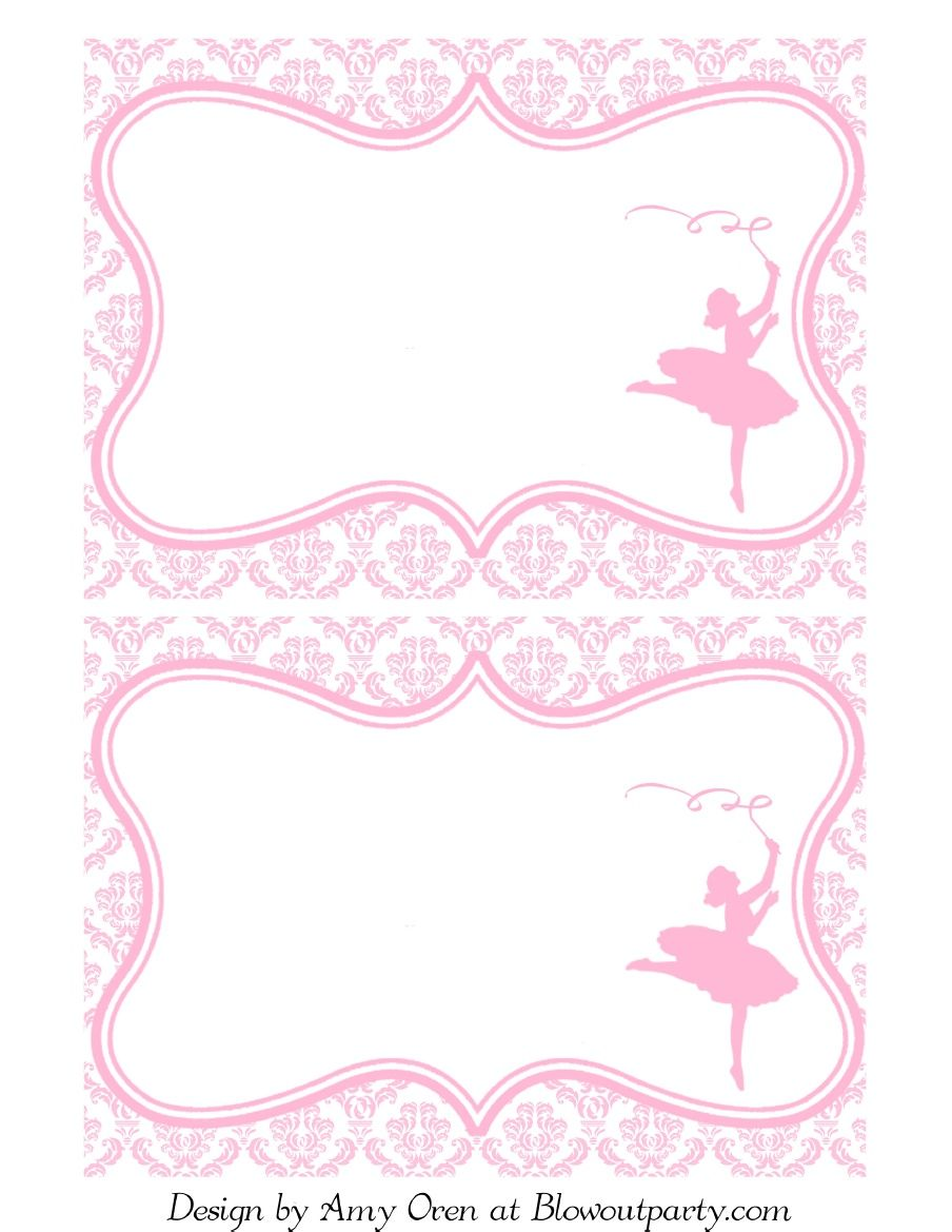 Ballerina Party Free Printable Invitation | Scribd | Party Parties ...