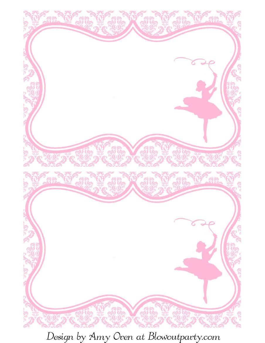 Ballerina Party Free Printable Invitation Invitaciones De
