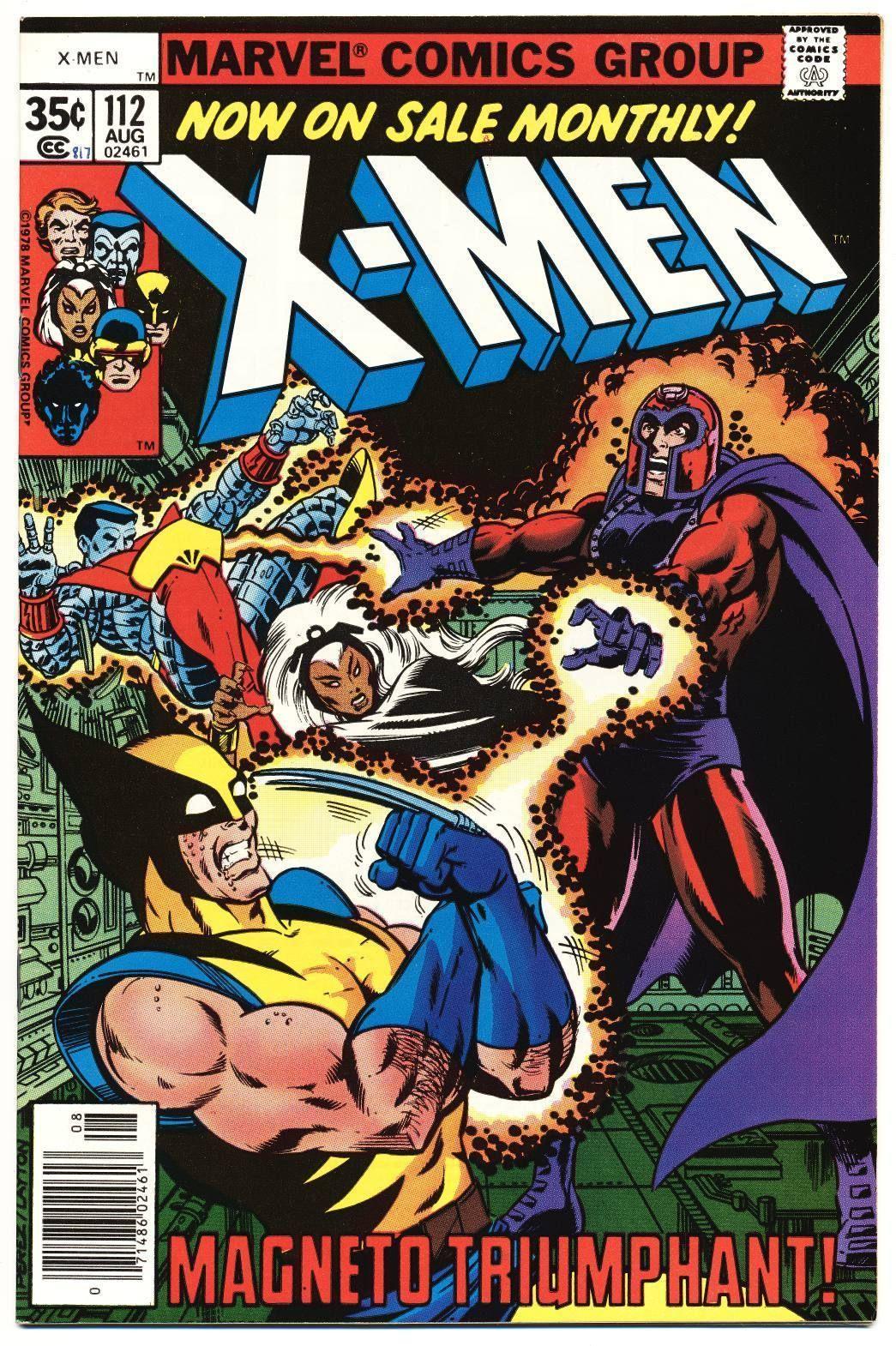 X Men 112 Vf Nm Magneto John Byrne Art The Uncanny Marvel Comics 1978 80 00 0 Bids End Date Sund Comic Poster Marvel Comics Covers Marvel Comic Books