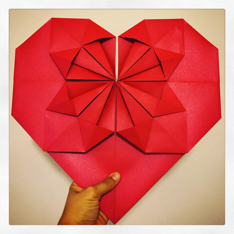 Corazón en Origami Oversize! #MomentoOrigami + # ... - photo#37