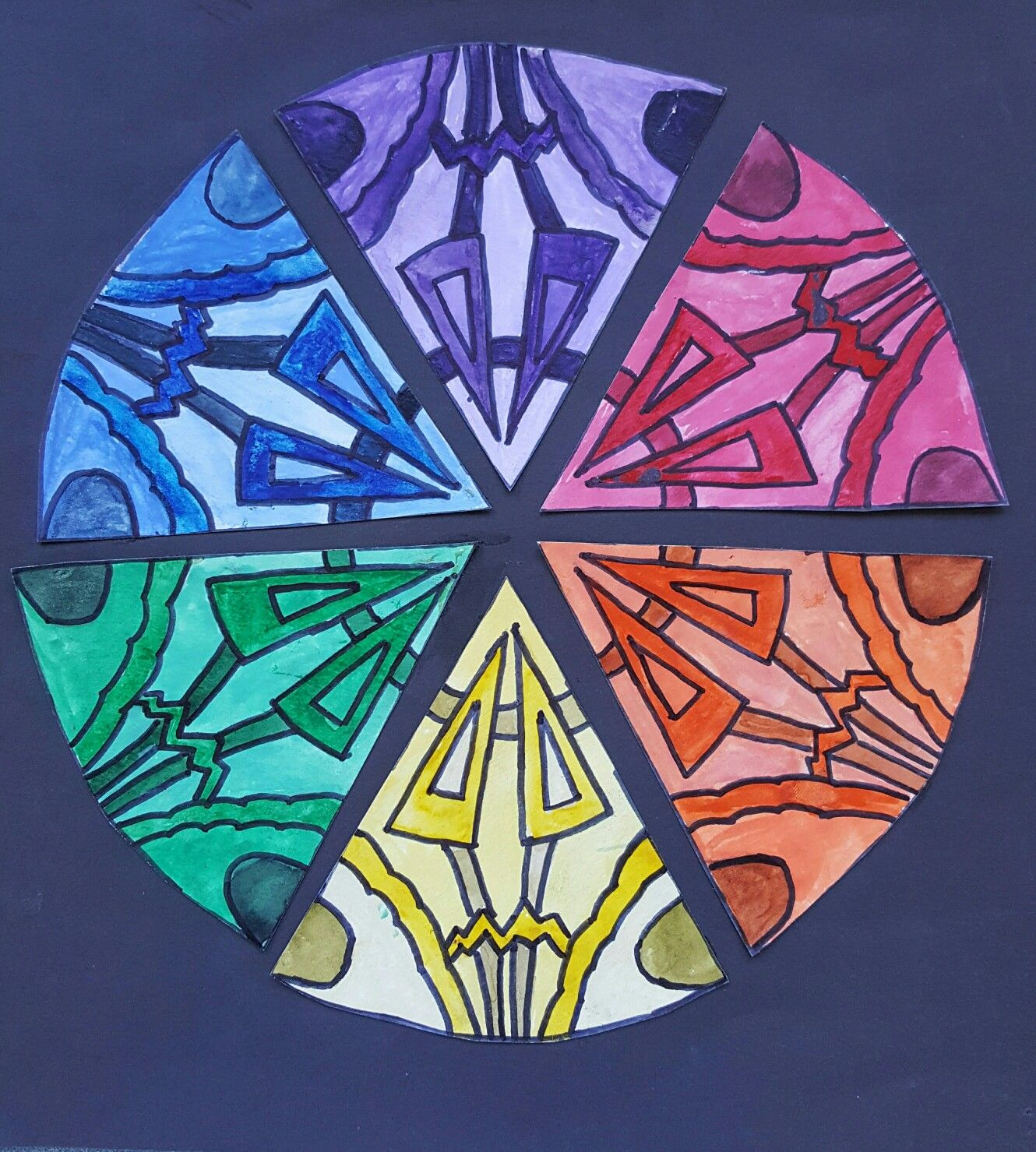 Art Ed Central 8th Grade Watercolor Colorwheel