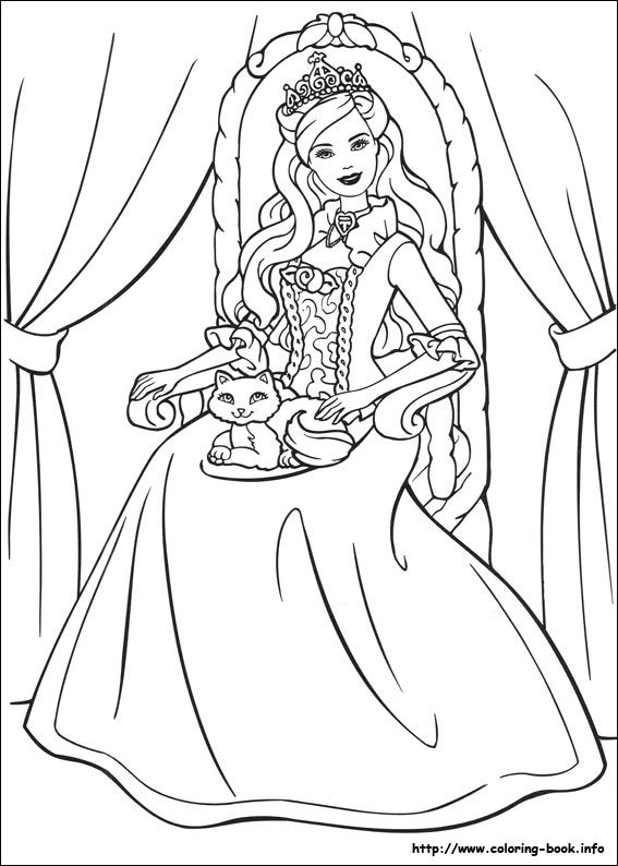 Barbie As The Princess And The Pauper Coloring Picture Barbie Coloring Barbie Coloring Pages Disney Princess Coloring Pages