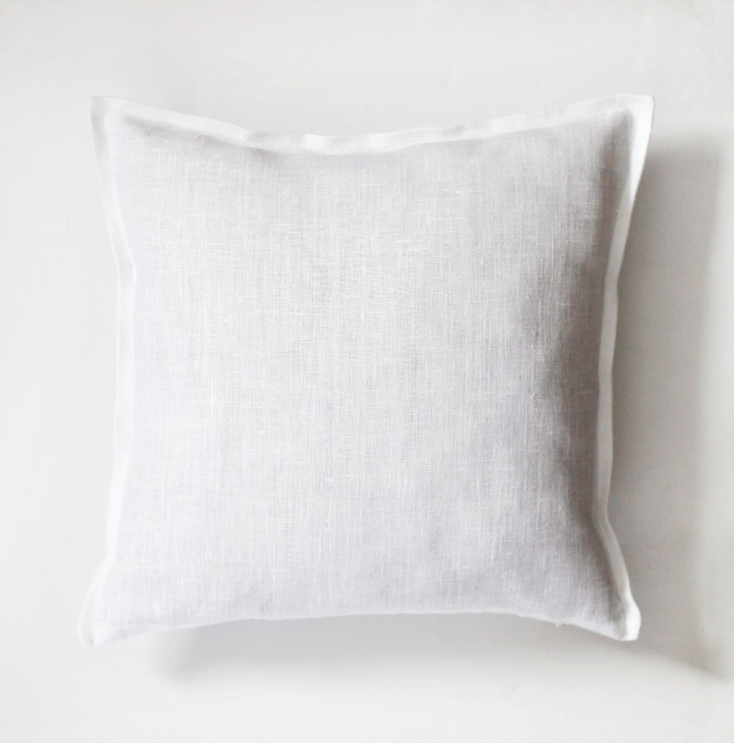 White pillow white pillow cover white natural fabric pillow