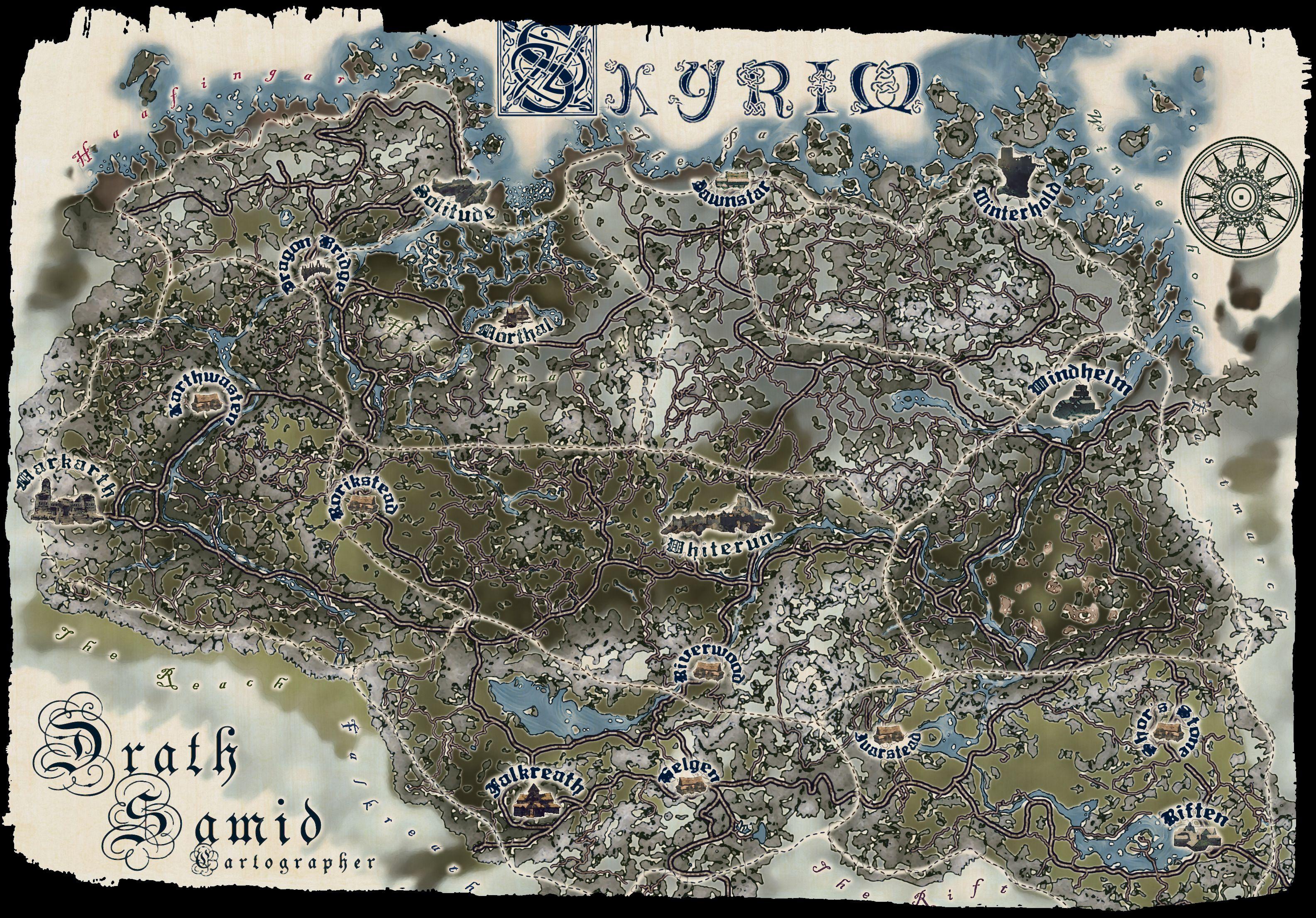 Skyrim By Sam SuthSax Maps in 2019