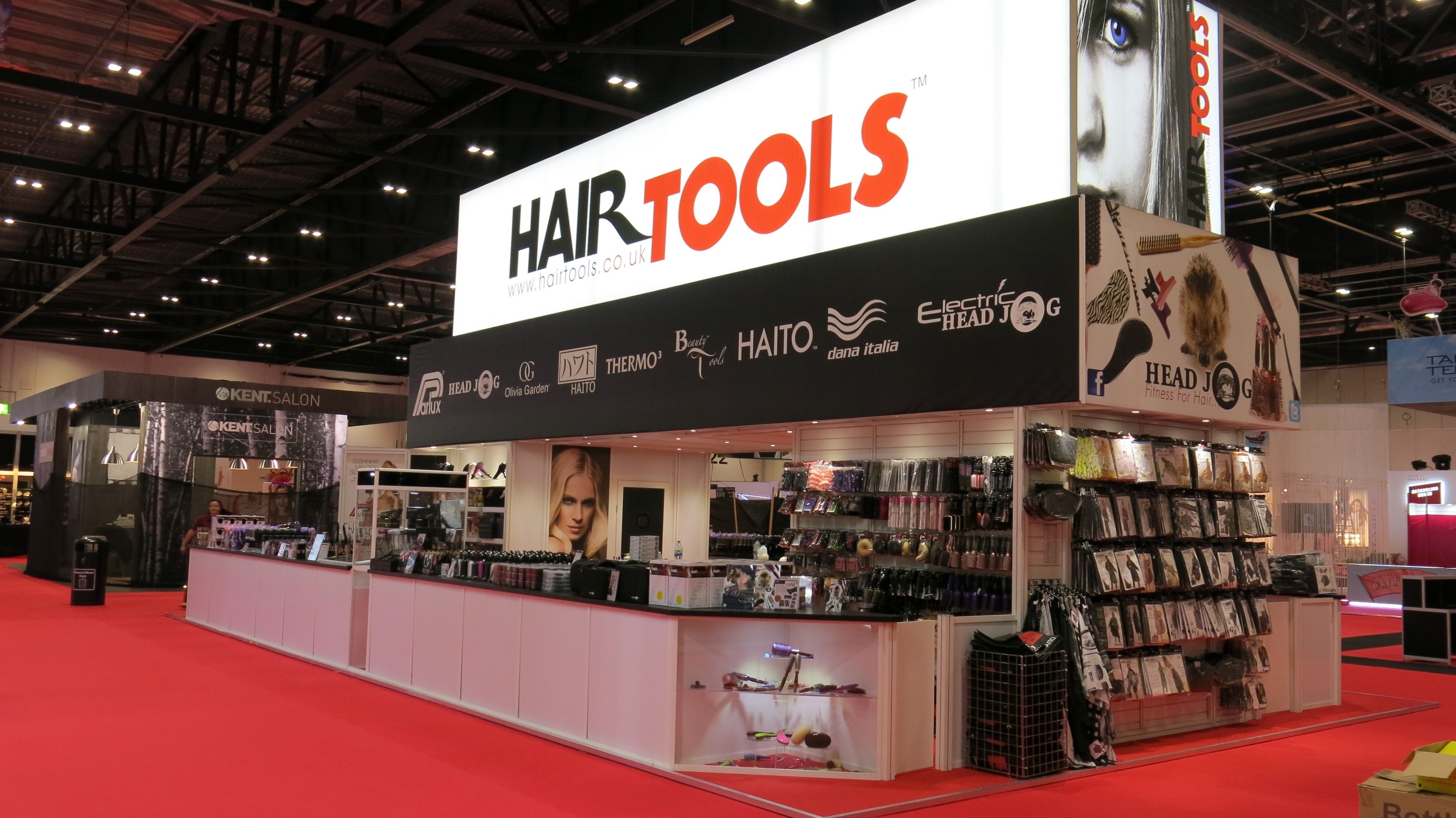 Exhibition Stand Builders Kent : Completed stand build for hair tools ltd by silverwood exhibitions