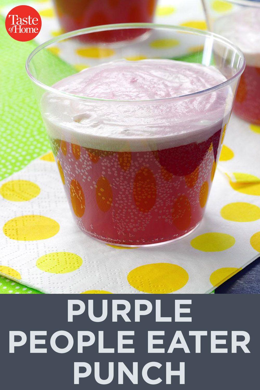 Purple People Eater Punch Recipe Unique Recipes Punch Recipes People Eater