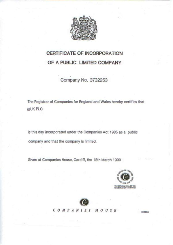 Certificates Of Incorporation Of Uk Companies A Notary Can Help