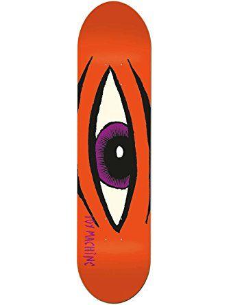 "Toy Machine Sect Eye Skateboard Deck, Orange, 32.0"" L x 8.0"" W ❤ Toy Machine"