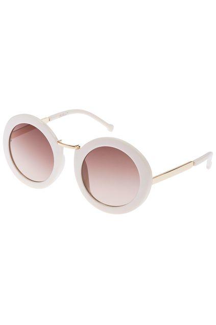 ROMWE Beige Round Sunglasses