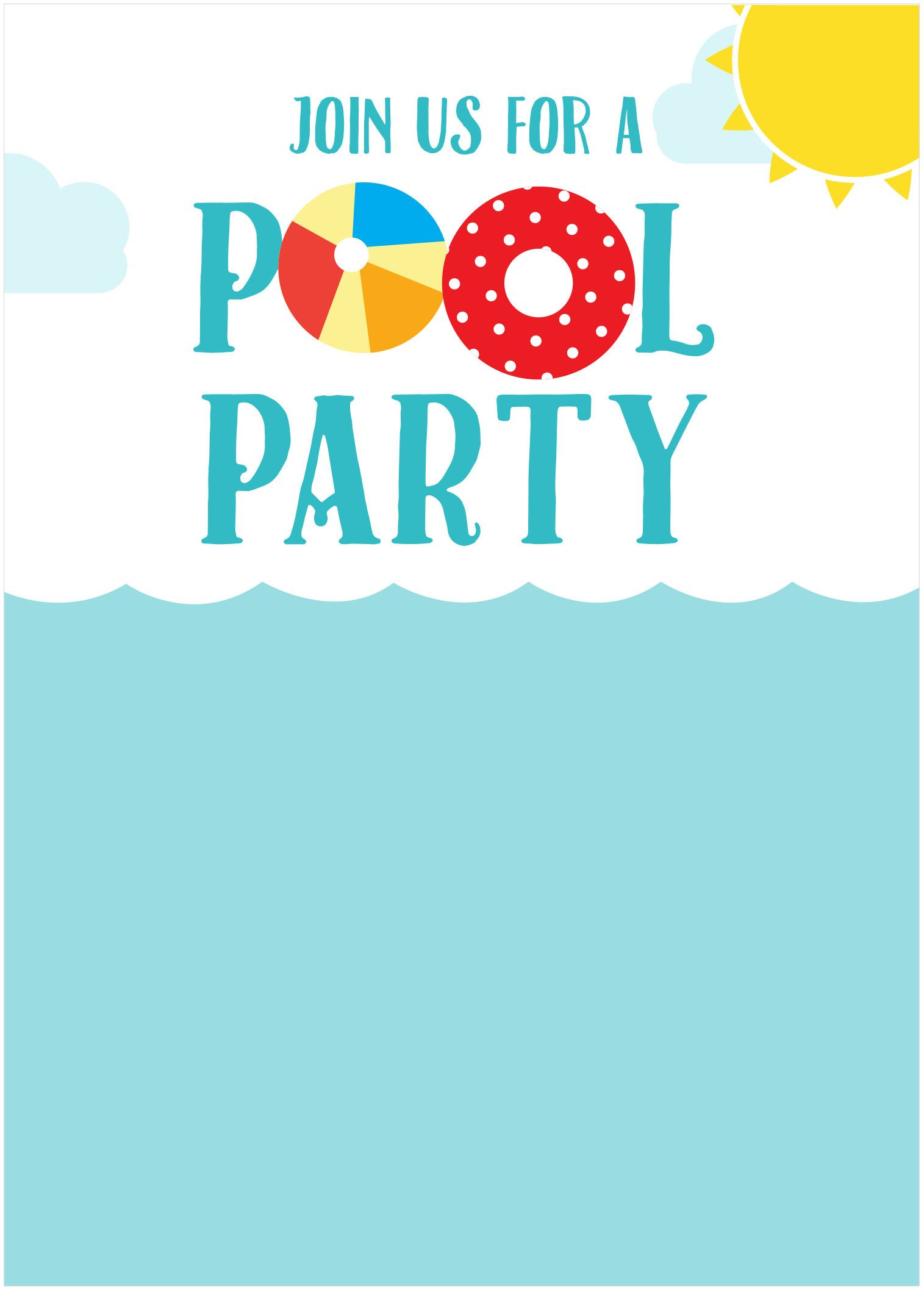 Summerinvite Pool Home Pinterest Birthdays Party Invitations