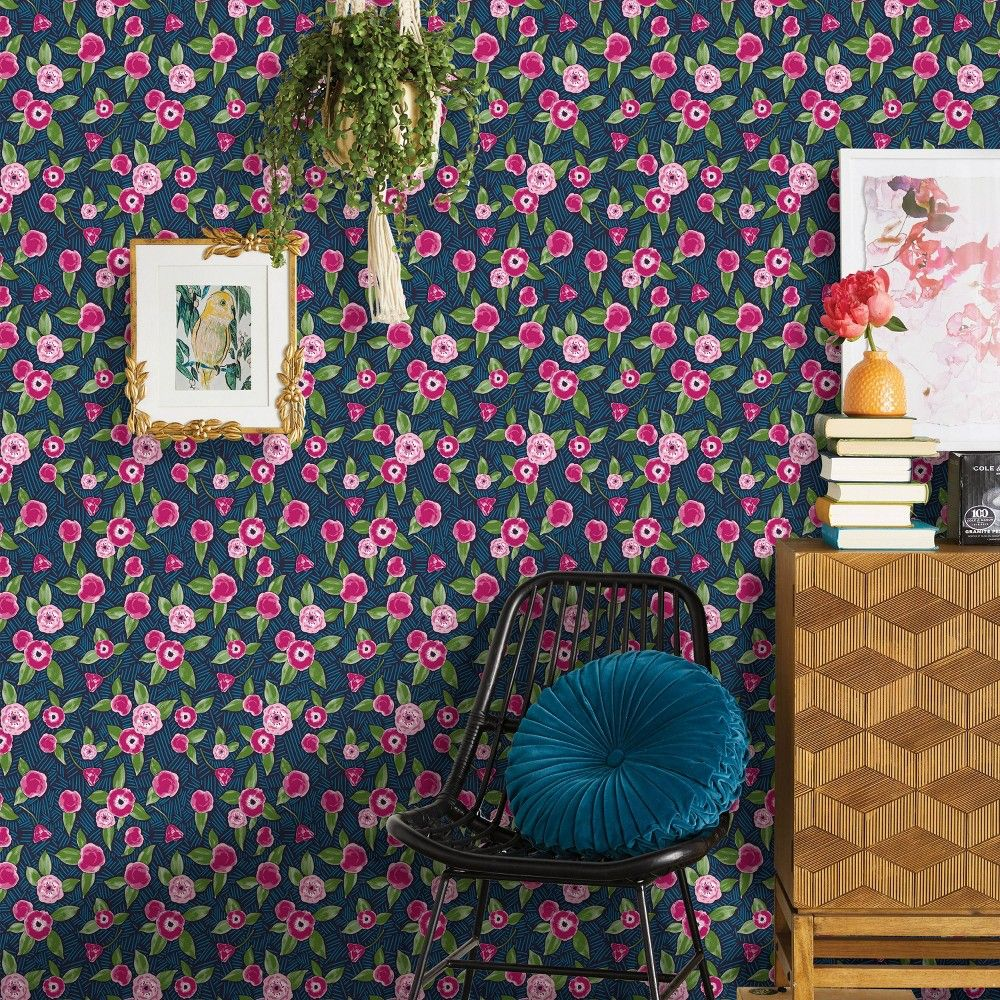 Shop For Peel And Stick Removable Wallpaper Online At Target Free Shipping On Orders Of 35 Peel And Stick Wallpaper Pink Floral Wallpaper Stick On Wallpaper