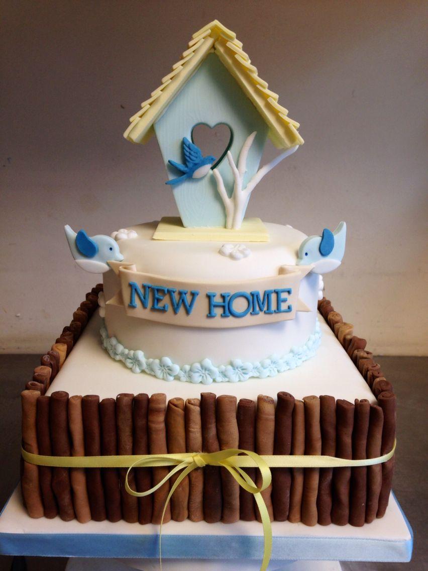 Cute birdhouse 'new home' housewarming cake   Housewarming ...