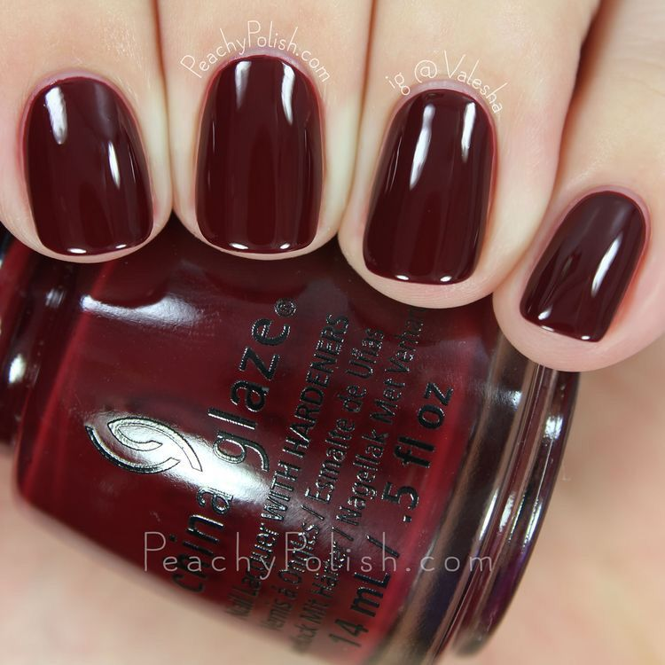 ChinaGlaze #WineDownForWhat | Fall nail colors | Pinterest | Fall ...