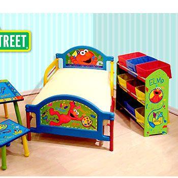 Sesame Street Elmo   TODDLER BED   Colorful Kids Room Furniture