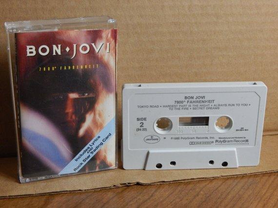 Bon Jovi 7800 Fahrenheit Vintage Cassette Tape Music Cassette Etsy Bon Jovi Music Cassette Cassette Tapes